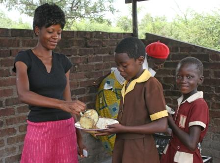 Feeding scheme at Samathonga School